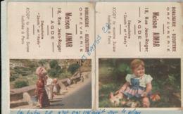 CALENDRIER  1951 PUBLICITE MAISON AIMR AGDE  Horlogerie, Bijouterie ORFEVRERIE  Septembre 2019 09 - Petit Format : 1961-70