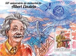 Guinea-Bissau, 2015. [gb15114] Albert Einstein (s\s+block) - Albert Einstein