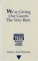 Generic Tesa Hotel Room Key Card With PG10493 9/98 - Hotelsleutels (kaarten)