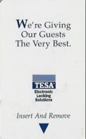Generic Tesa Hotel Room Key Card With AB126317 01/00 - Hotelsleutels (kaarten)