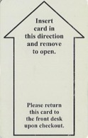 Generic Insert Arrow With Instructions - Hotel Room Key Card - Hotel Keycards