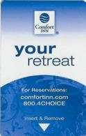 Comfort Inn Hotel Room Key Card - Hotelsleutels (kaarten)