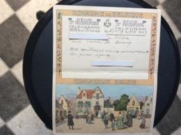 FAIRE-PART  ROYAUME DE BELGIQUE Régie Des Télégraphes Et Téléphones TÉLÉGRAMME  Seraing  ANNÉE 1934 - Faire-part