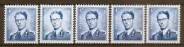 VARIA 143 * Boudewijn Bril * Nr 926 * 5x KLEUR/GOM VARIATIE * Postfris Xx * FLUOR  PAPIER - 1953-1972 Glasses