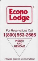 Econo Lodge Hotel Room Key Card - Hotel Keycards