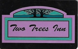 Two Trees Inn Hotel Room Key Card With (I) Over Mag Stripe - Hotel Keycards