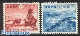 Japan 1942 Pacific War 2v, (Mint NH), Transport - Ships And Boats - History - World War II - Nuovi