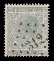 COB 17 - Obl. Losange De Points - Bureau N° 312 (ROCHEFORT) Papier Epais - 1865-1866 Linksprofil