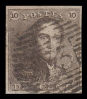 Epaulette N° 1 - Oblitération à Barres -  73 (LIÈGE) -  4 Belles Marges - 1849 Schulterklappen