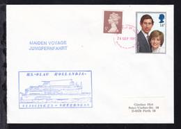 Undeutl. OSt. 26 SEP 1989 + L2 MAIDEN VOYAGE JUNGFERNFAHRT + Cachet  - Unclassified