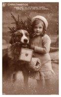 Dog , Christmastide ,Girl With Dog - Dogs