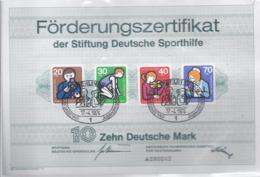 AK-div.27- 055 - Förderungszertifikat Der Deutschen Sporthilfe - A 090042  Berlin 1974 - Non Classificati