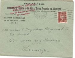 21911 - MAIN D OEUVRE EN ALLEMAGNE - Marcophilie (Lettres)
