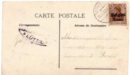 OC11 Sur CF Oblitération BOVIGNY Vers Stavelot - Censure LÜTTICH - WW I