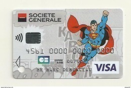 CARTE DE DEMONSTRATION  VISA  THEME BATMAN - Krediet Kaarten (vervaldatum Min. 10 Jaar)