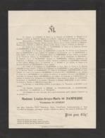 Bordeaux,Curzay,Mesnil Finhan,Ternay,2 Faire-part,Curzay,Rochetaillée,Dampierre,Exéa,Ayguevives,Humières,Barbot,Pérignon - Todesanzeige