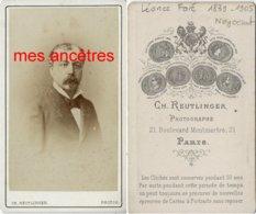 Famille Faré- Léonce Faré 1839 Beaulieu Lès Loches (37) 1905 Paris-Négociant-magasin Louvre Ep F. VASSAL Par Reutinger - Photos