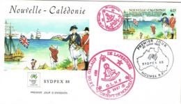 Nouvelle Caledonie Franc Maconnerie Macon Freemason Sydpex Botany Bay Laperouse Loge Lodge GLNF FDC EPJ 30/07/1988 BE - Nieuw-Caledonië