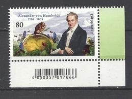 Deutschland / Germany / Allemagne 2019 3492 ** Alexander Von Humboldt (06.09.19) - Ungebraucht