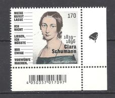 Deutschland / Germany / Allemagne 2019 3493 ** Clara Schumann (06.09.19) - Ungebraucht