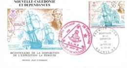 Nouvelle Caledonie Franc Maconnerie Macon Freemason Laperouse Loge Lodge GLNF FDC EPJ Premier Jour 1988 BE - Nieuw-Caledonië