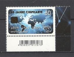 Deutschland / Germany / Allemagne 2019 3494 ** 50 Jahre Chipkarte (06.09.19) - Ungebraucht
