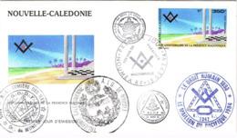 Nouvelle Caledonie Franc Maconnerie Macon Freemason Laperouse Loge Lodge GLNF GODF DH FDC EPJ Premier Jour 1994 BE - Nieuw-Caledonië
