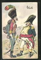 CPA Illustrateur Kavallerist überreicht Napoleon Eine Nachricht - Militaria