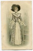 CPA - Carte Postale - Illustrateur - Portrait De Femme à Chapeau - Belle Robe (I9922) - Frauen