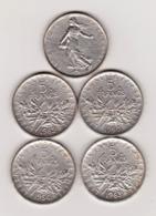 FRANCE - LOT DE 4 PIÈCES ARGENT 5 FRANCS SEMEUSE ANNÉES 1960, 1962, 1963 ET 1964 [N18]_NUMI97 - Francia