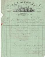 Rare Facture Cachetée Du 18 Avril 1867 Vins Et Comestibles à Bordeaux J.Casse Et Cie Avec Timbre Napoléon III - 1800 – 1899