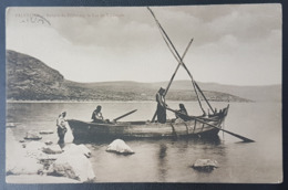 GE- Fisherman In Tabaraya - Very Beautiful Postcard Sent From French Levant Post Office In Beyrouth Lebanon - Lebanon