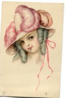 CPA - Carte Postale - Illustrateur - Portrait De Femme - Chapeau  (I9925) - Women