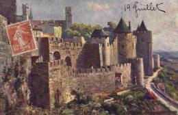 Illustrateur CITE DE CARCASSONNE  RV  TUCK'S - Peintures & Tableaux