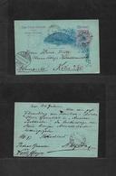 Brazil -Stationary. 1897 (1 June) Pedras Brancas, Porto Alegre - Germany, Koln (28 June) 80 Rs Multicolored Stat Card, R - Brésil