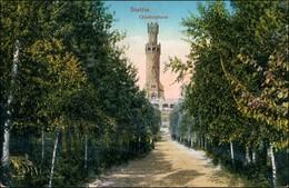 Postcard Stettin Szczecin Quistorp Gedächtnis Turm 1918 - Pommern