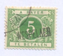 TX12A Met Naamstempel  WESPELAER - Portomarken