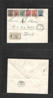 Italian Colonies. 1909 (16 Sept) La Canea. Candia - Zürich, Switzerland (23 Sept) Registered Multifkd Envelope, Ovptd Ki - Italy
