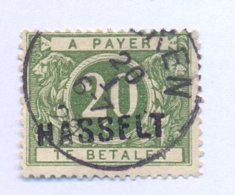 TX14A Met Naamstempel  HASSELT - Portomarken