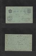 Montenegro. 1901 (11 Oct) Cettinje - Germany, Heidelberg (16 Oct) 5p Black / Greenish Stat Card. Fine Family Corresponda - Montenegro