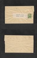 Montenegro. C. 1905. Cettinje - Sarajevo, Bosnia. 5p Green Complete Stat Wrapper. Fine. - Montenegro