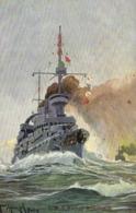 Illustrateur Signé S M S Kaiser Wilhem II (German Navy) RV TUCK'S - Guerre