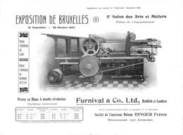 Furnival & Co Ltd, Exposition De Bruxelles 1905 - Presse Imprimerie (Binger Frères, Amterdam) - Reclame