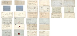Serbia. 1860s. Selection Of 15 Mostly Different Stampless, Official ELS Postmarks, Registered Charges. Also Austrian Per - Serbie