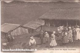 Suisse - Vaud - Chalets Dans Les Alpes Vaudoises (Taveyannaz) Ziegen Goat Chalet - VD Vaud