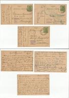 Serbia. 1943-44. 3 Local 1,50 Dinar Green Stat Cards, Censored And Town Usages, Incl Kikinda, Kraguajevac And Belgrade. - Serbia