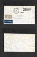 "Somalia. 1954 (14 Oct) Mogadiscio - Sweden, Stockholm. Registered Cash Paid ""port Paye"" Airmail Envelope. VF Bilingual C - Somalie (1960-...)"