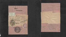 Switzerland - Xx. 1909 (June) France - Biex Biennei. Fkd Pm Complete Wrapper France 2c, Taxed + Swiss Arrival Pd 5c Red - Unclassified