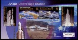 Ascension Bloc Feuillet 2003 Y&T N°BF48 - Michel N°B48 *** - Programme Ariane - Ascension (Ile De L')