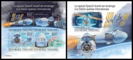 TOGO 2019 - SpaceX: Crew Dragon, M/S + S/S. Official Issue - Space